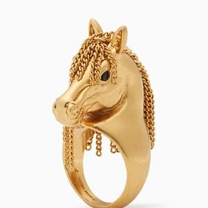 Kate Spade Horse Gold Wild ones Statement Ring 7